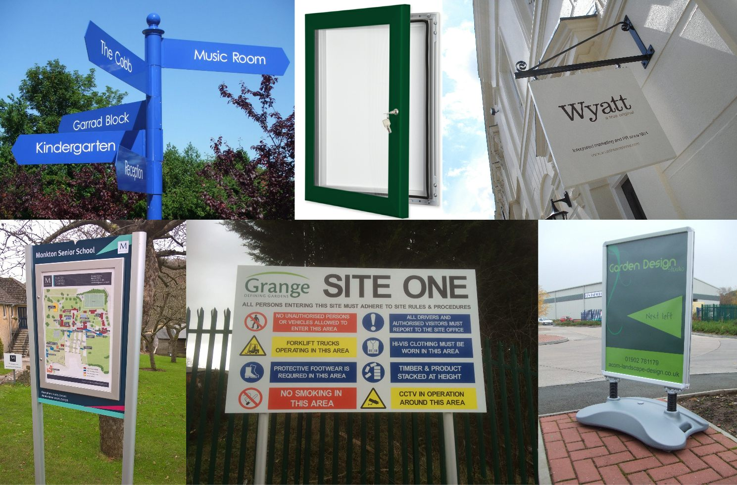 Finger-Posts, Pavement Signs, Notice Boards, Safety Signs