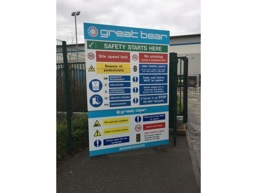 Site safety board, safety signs, freestanding safety sign, site safety signs