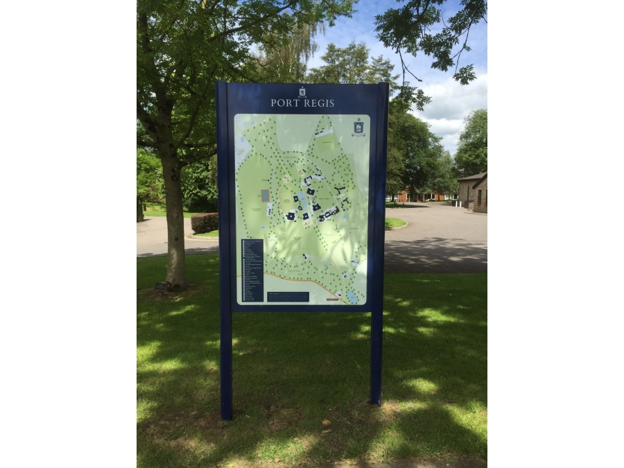 Delta post & panel, freestanding sign, post mounted signs