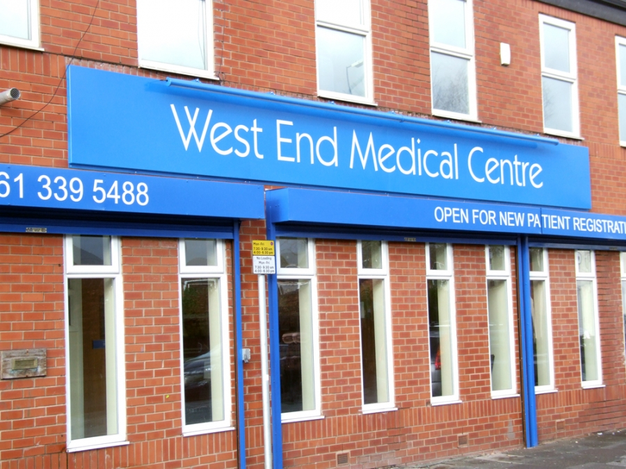 West End Medical Centre doctors Signs