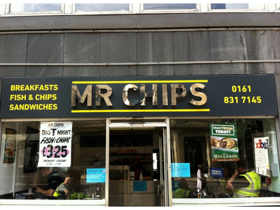 Chip shop signs