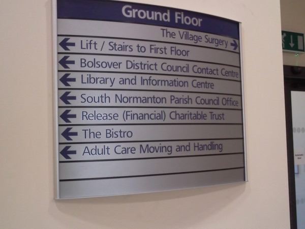 directory signs, Vista signs, lobby signs, reception signs, information signs