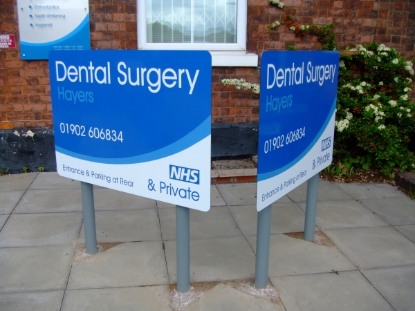 Standard post & panel, freestanding sign, post mounted signs