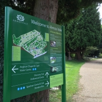 Map signs, location signs, information signs, park signs, instruction signs, way-finding signs