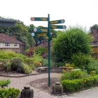 Finger-post, fingerpost, area signs, pointer signs, pointing signs, finger posts