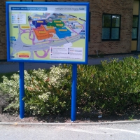 information signs, notice boards, poster cases, instruction signs
