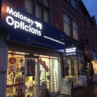 Maloney Opticians signs