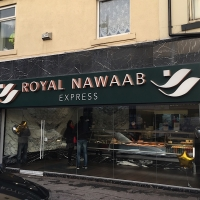 Cafe and takeaway signs